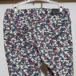Girls Levi's  floral pants Jean's 12